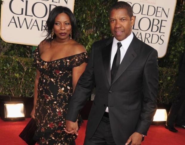 Denzel y su esposa