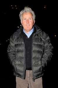 London Boys - Martin Sheen leaves the May Fair hotel with his son, Emilio Estevez