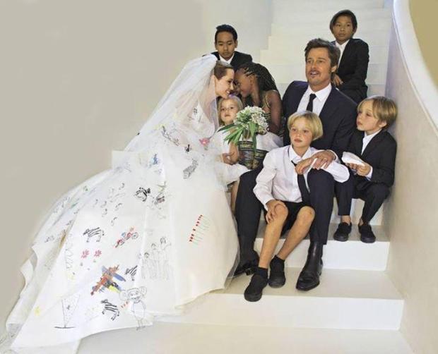 Angelina Jolie boda hijos