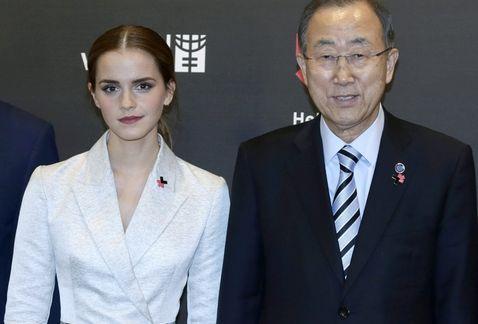 Ema Watson y Ban Ki Moon