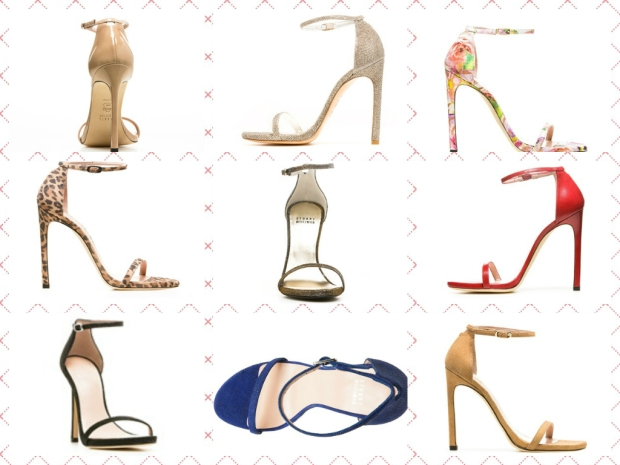 nudist sandals collage