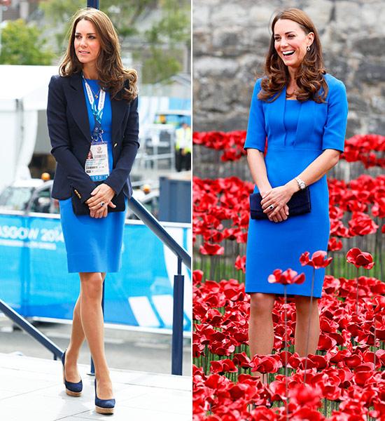 Chaqueta para un vestido azul electrico
