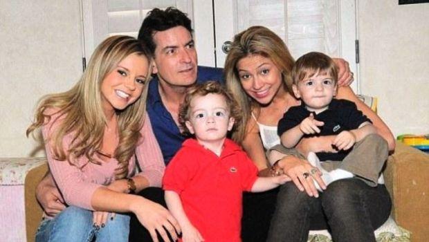 Charlie Sheen y su familia