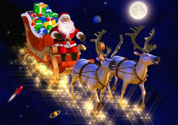 santa claus in his sledge